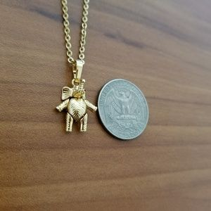 18K Gold Filled Elephant Necklace
